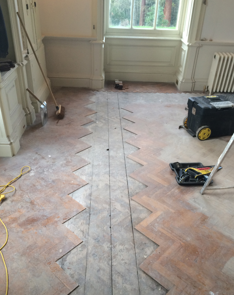 Georgian Stately Home Flooring Renovation - Before