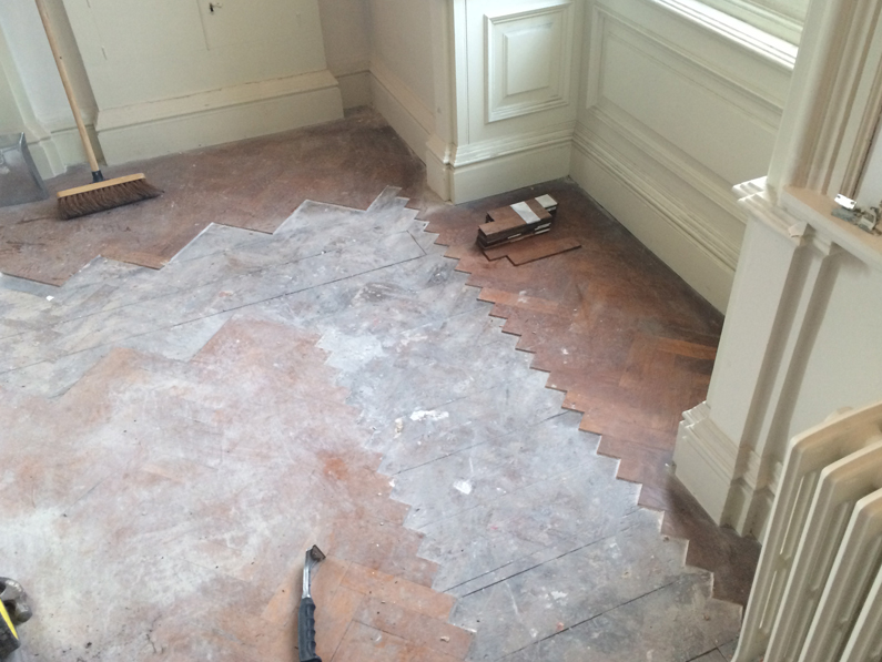 Georgian Stately Home Flooring Renovation - Before