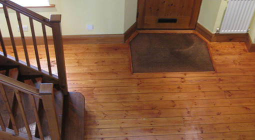 staining timber floors